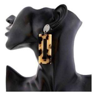 Jewelry - Faux tortoiseshell dangle earrings